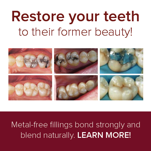See the difference of Metal-free fillings VERSUS the composit resin results below. Dentistry by Croasdaile Dental Arts in Durham, NC.