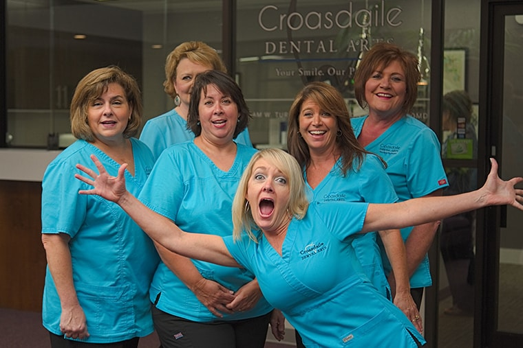 Fun photo of the Croasdaile Dental Arts Dental Team