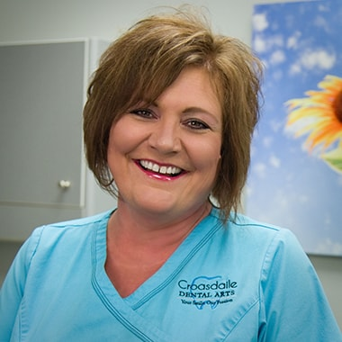 Dawn who is a dental assistant at Croasdaile Dental Arts