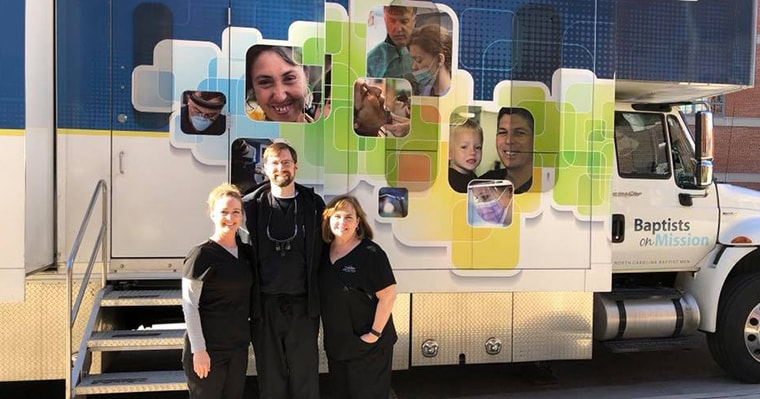 The Croasdaile Dental Arts team at the Homeless Connect Project in Durham on Jan 25th 2018