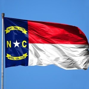 State Flag of North Carolina.
